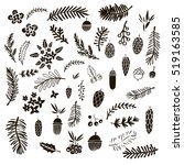 big set of doodle elements  for ... | Shutterstock .eps vector #519163585