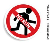 no run sign on white background. | Shutterstock . vector #519165982