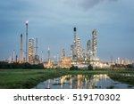 oil refinery factory petroleum...   Shutterstock . vector #519170302