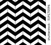 Abstract black and white geometric chevron seamless pattern, vector | Shutterstock vector #519170596