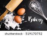 bakery   bakery top view set on ... | Shutterstock . vector #519170752