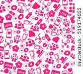 valentine's day wallpaper... | Shutterstock .eps vector #519174022