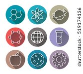 science icons  technology... | Shutterstock .eps vector #519174136