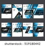 annual business report cover... | Shutterstock .eps vector #519180442