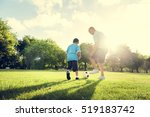 soccer football field father... | Shutterstock . vector #519183742