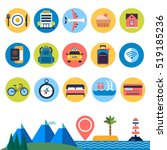 set of flat vector icons for... | Shutterstock .eps vector #519185236