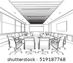 interior outline sketch drawing ... | Shutterstock .eps vector #519187768