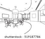 interior outline sketch drawing ... | Shutterstock .eps vector #519187786