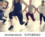 diversity people exercise class ... | Shutterstock . vector #519188362