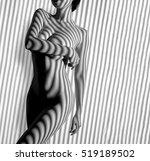 nude woman sexy artistic black... | Shutterstock . vector #519189502