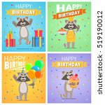 set of different birthday... | Shutterstock .eps vector #519190012