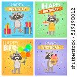 set of different birthday... | Shutterstock .eps vector #519190012