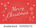 merry christmas minimal line ... | Shutterstock .eps vector #519192172
