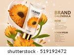 calendula hand cream ads  3d... | Shutterstock .eps vector #519192472