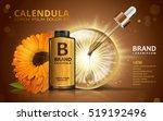 calendula skin toner ads  3d... | Shutterstock .eps vector #519192496