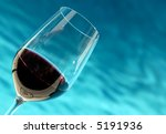 Wine Glass By The Pool