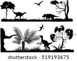 horizontal monochrome vector... | Shutterstock .eps vector #519193675
