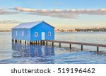 The Blue Crawley Edge Boatshed...