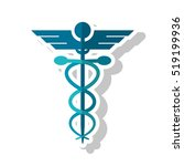isolated caduceus and medical... | Shutterstock .eps vector #519199936