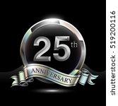 25th silver anniversary logo ... | Shutterstock .eps vector #519200116