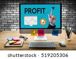 profit growth and improve... | Shutterstock . vector #519205306