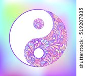 symbol of yin and yang. this... | Shutterstock .eps vector #519207835