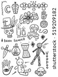 set of hand drawn voodoo objects | Shutterstock .eps vector #519209182