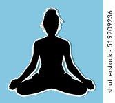yoga silhouette | Shutterstock .eps vector #519209236