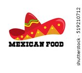 mexican mexico food restaurant... | Shutterstock .eps vector #519210712