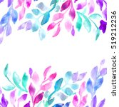 painted ombre watercolor leaves.... | Shutterstock . vector #519212236