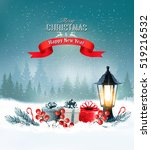 christmas background with a... | Shutterstock .eps vector #519216532