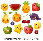 collection of lovely baby fruit ... | Shutterstock .eps vector #519217876