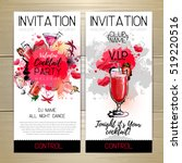 cocktail party poster.... | Shutterstock .eps vector #519220516