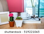 photo frame  cactus  succulent... | Shutterstock . vector #519221065