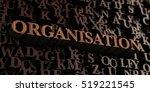 organisation   wooden 3d... | Shutterstock . vector #519221545