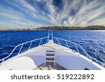 boat in the tropical sea... | Shutterstock . vector #519222892