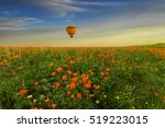 Yellow Hot Air Balloon Over Th...
