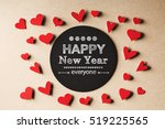 happy new year everyone message ... | Shutterstock . vector #519225565