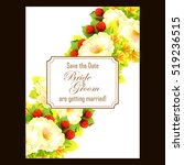 invitation with floral... | Shutterstock . vector #519236515