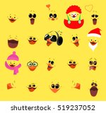 emotions. a large set of... | Shutterstock .eps vector #519237052