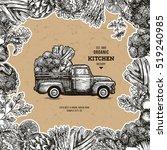 farm fresh delivery design... | Shutterstock .eps vector #519240985