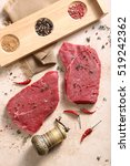 piece of fresh beef and mill... | Shutterstock . vector #519242362