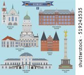 famous places in germany  town... | Shutterstock .eps vector #519243535