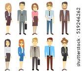 businessmen businesswomen... | Shutterstock . vector #519246262