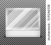transparent display glass box... | Shutterstock . vector #519246538
