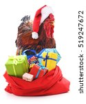 Rooster With A Bag Of Gifts...