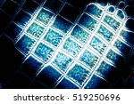 blue heart from leather... | Shutterstock . vector #519250696