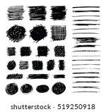 set of hand drawn scribble... | Shutterstock .eps vector #519250918