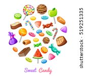 sweet candy composition with... | Shutterstock .eps vector #519251335