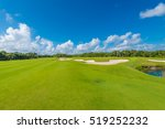 sand bunkers at the beautiful... | Shutterstock . vector #519252232